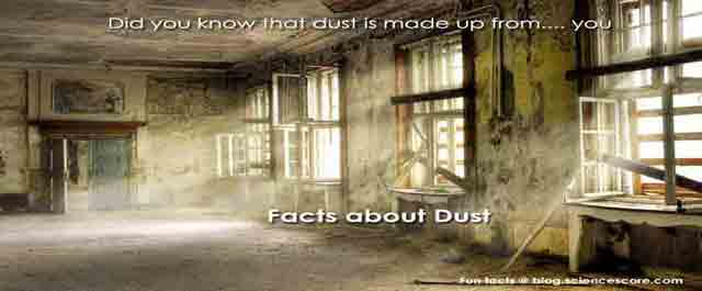 Did you know that dust is made from… you?
