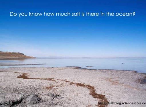 How much salt is in the oceans?