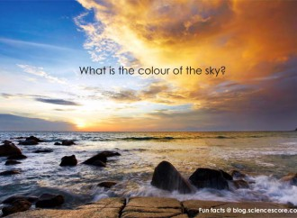 What colour is the sky?