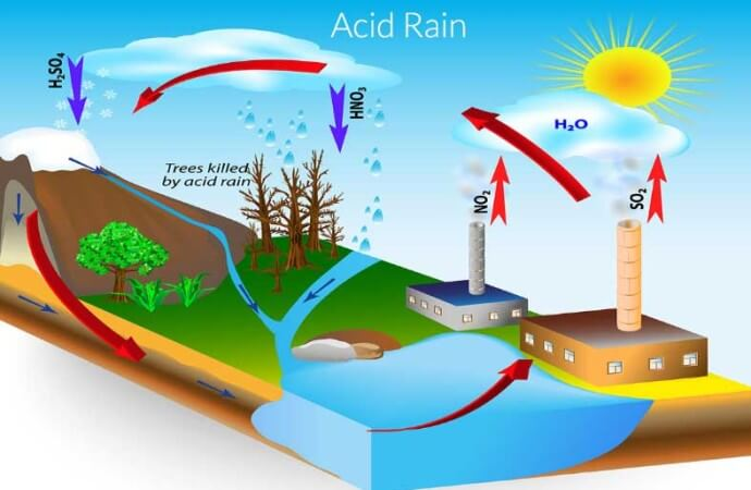 What causes acid rain?